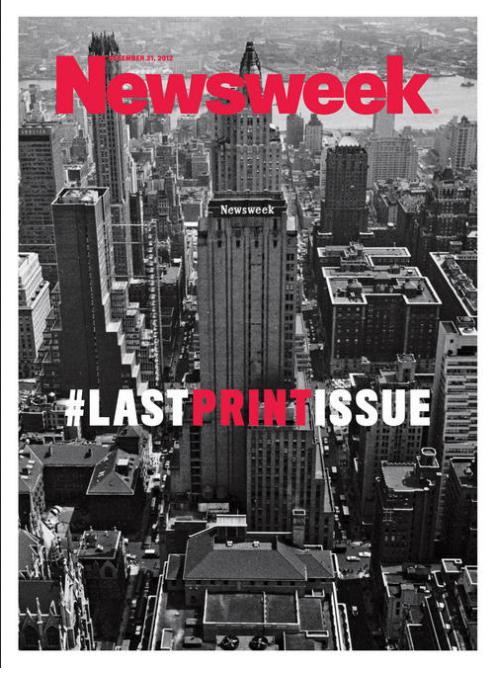 Ostatnia okładka drukowanego Newsweeka