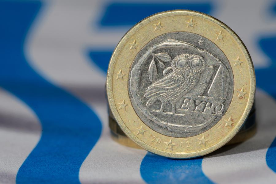 Grecja, flaga, euro