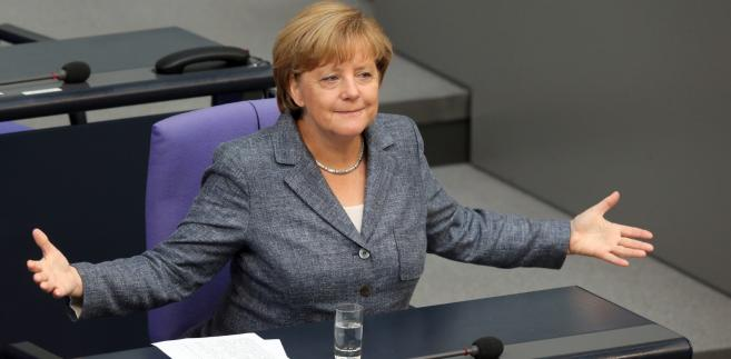 Angela Merkel podczas posiedzenia Bundestagu