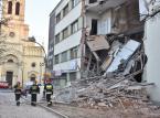Łódź: Runęła część kamienicy