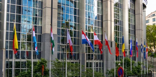 Europa, flaga, Bruksela, parlament, UE