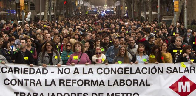 Strajk w Barcelonie