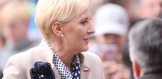 Pierwsza dama przed rozpoczęciem lekcji podkreśliła, że stara się wspierać inicjatywy, które mają poprawić jakość i bezpieczeństwo poruszania się dzieci i młodzieży na polskich drogach