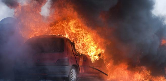 Spalony pojazd