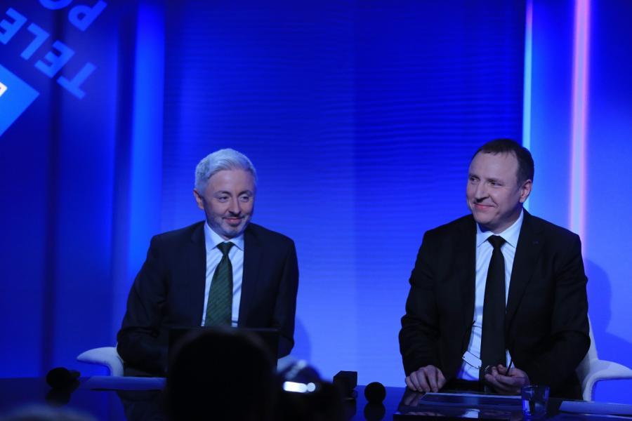 Członek Zarządu Maciej Stanecki i prezes Jacek Kurski