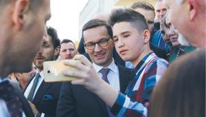 Premier Morawiecki na spotkaniu z mieszkańcami Węgrowa