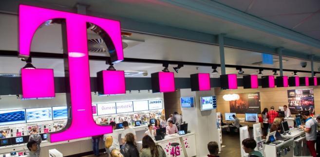 Sklep T-Mobile, którego właścicielem jest Deutsche Telekom