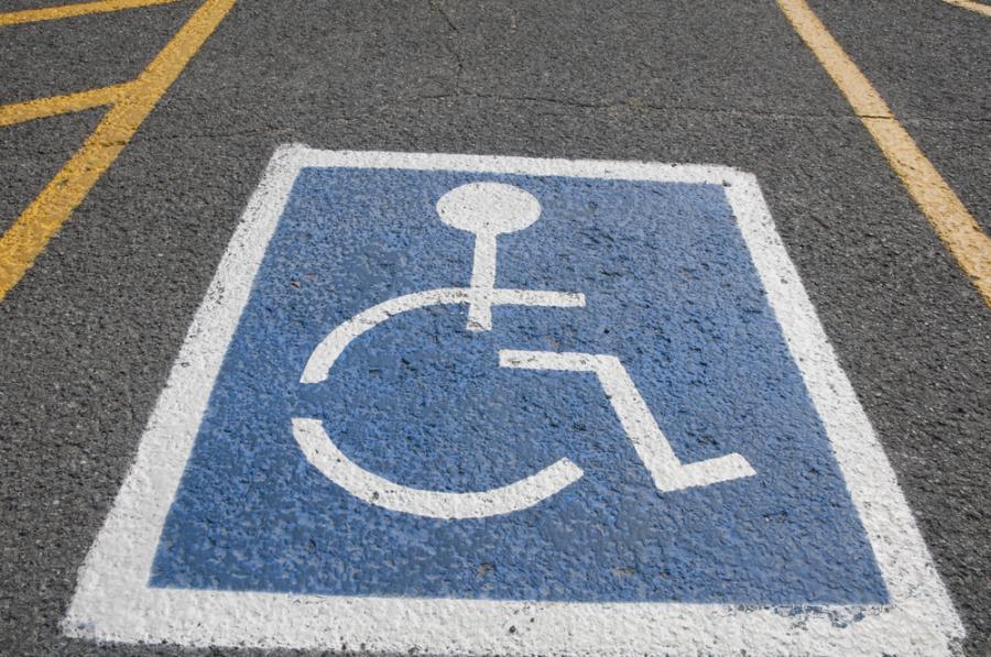 Miejsce parkingowe dla osoby niepełnosprawnej