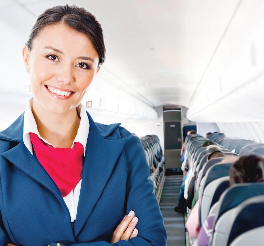 Stewardessa, samolot