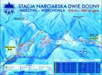 Schemat stacji narciarskiej Dwie Doliny Muszyna-Wierchomla.