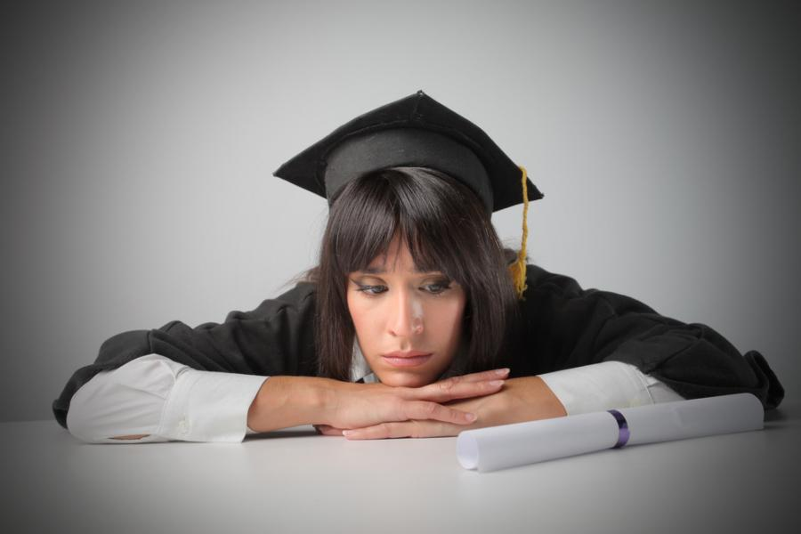 studia, doktorant, smutek