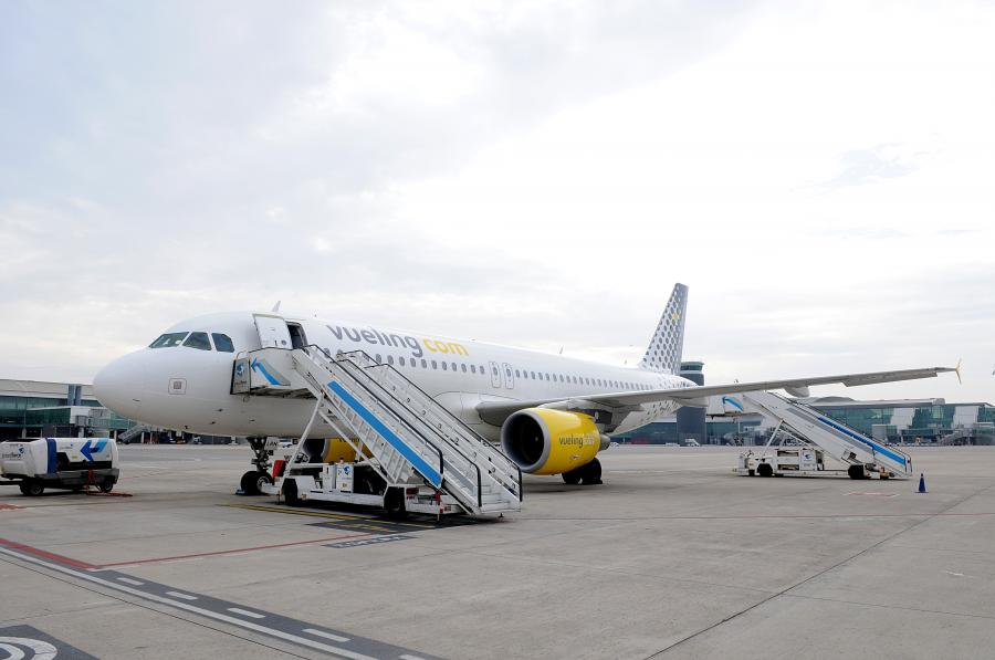 Airbus A320 hiszpańskiej linii lotniczej Vueling.