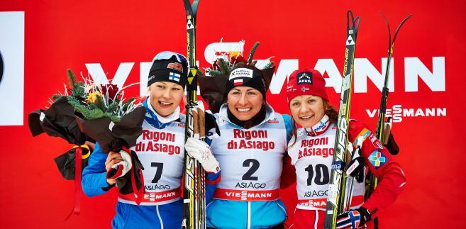 Anne Kylloenen, Justyna Kowalczyk i Maiken Caspersen Falla