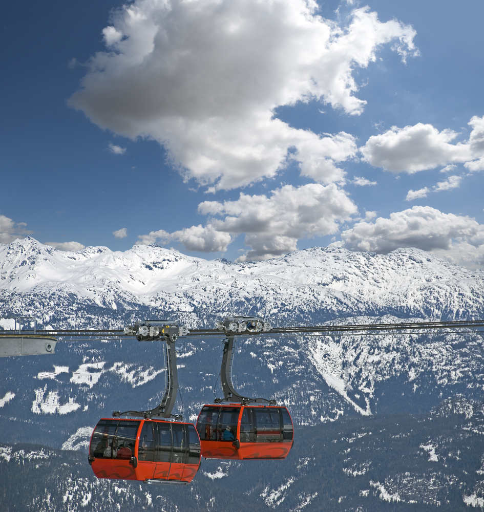Gondole w Whistler