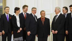Jadwiga Sztabińska i Marek Tejchman podczas nominacji do kapituły