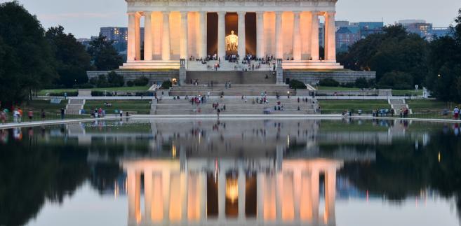 Pomnik Lincolna i Sadzwka Lustrzana, Waszyngton, USA