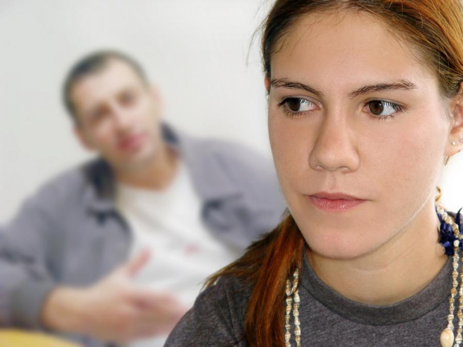 nastolatka z ojcem