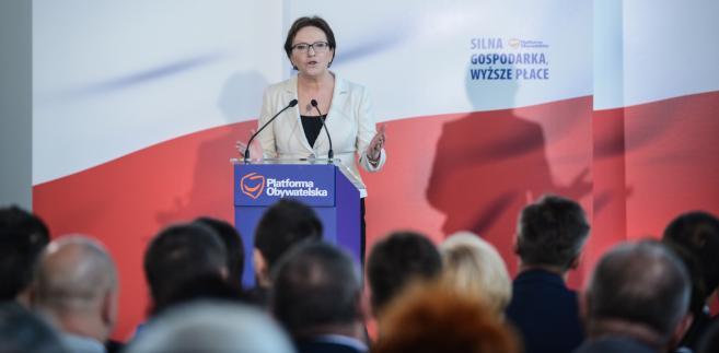 Przebywająca, w woj. lubuskim premier Ewa Kopacz , PAP/Jakub Kamiński