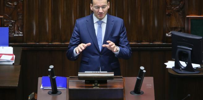 Wystąpienie wicepremiera, ministra rozwoju i finansów Mateusza Morawieckiego podczas posiedzenia Sejmu