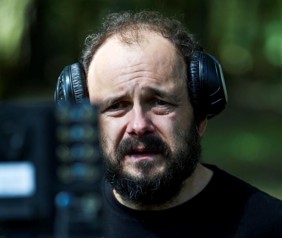 """Arkadiusz Jakubik na planie filmu """"Prosta historia o morderstwie"""""""