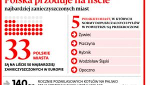 Polska przoduje na liście najbardziej zanieczyszczonych miast