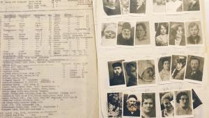 Zdjęcia przysłane z okupowanej Polski, które miały zostać wklejone do paszportów, oraz listy osób, znalezione przez szwajcarską policję w domu Israela Chaima Eissa