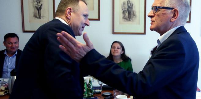 Posiedzenie Rady Mediów Narodowych. Jacek Kurski i Krzysztof Czabański