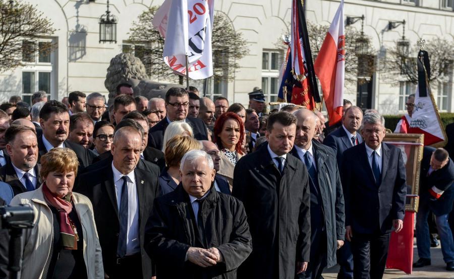 Jarosław Kaczyński, Mariusz Błaszczak, Joachim Brudziński, Stanisław Karczewski