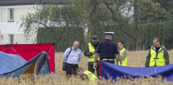 Wypadek prywatnego śmigłowca w Domecku koło Opola.
