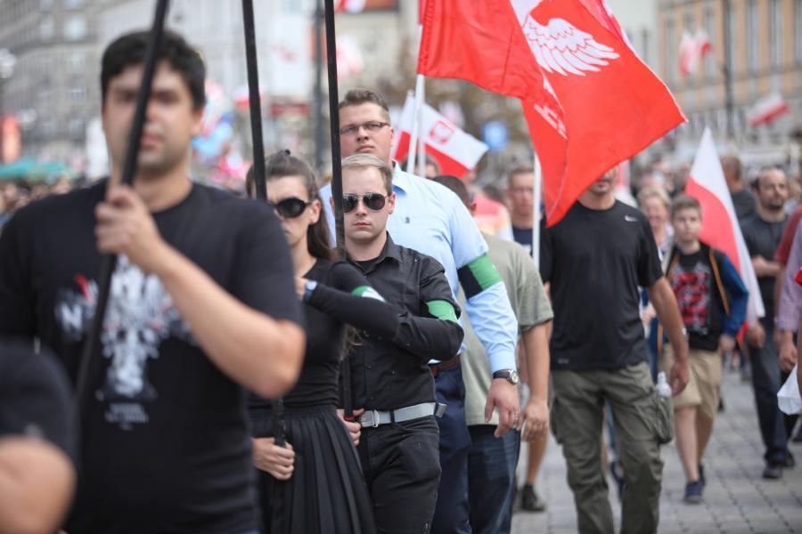 Marsz Zwycięstwa Rzeczypospolitej, zorganizowany przez środowiska narodowe.
