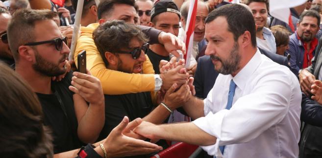 Wicepremier włoskiego rządu Matteo Salvini.