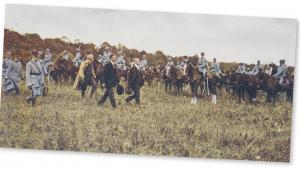 Przegląd jednostek powołanej z inicjatywy Romana Dmowskiego Błękitnej Armii we francuskim Brienne, 22 czerwca 1918 r.