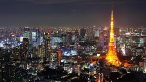 Tokio, stolica Japonii. Aglomerację Tokijską zamieszkuje 34 mln osób.